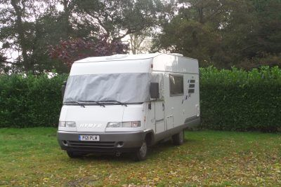 Bertie is parked up at Keeler's Meadow CS at Sutton near Stalham in Norfolk.
