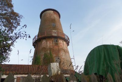 The nine storey tower of Sutton Windmill