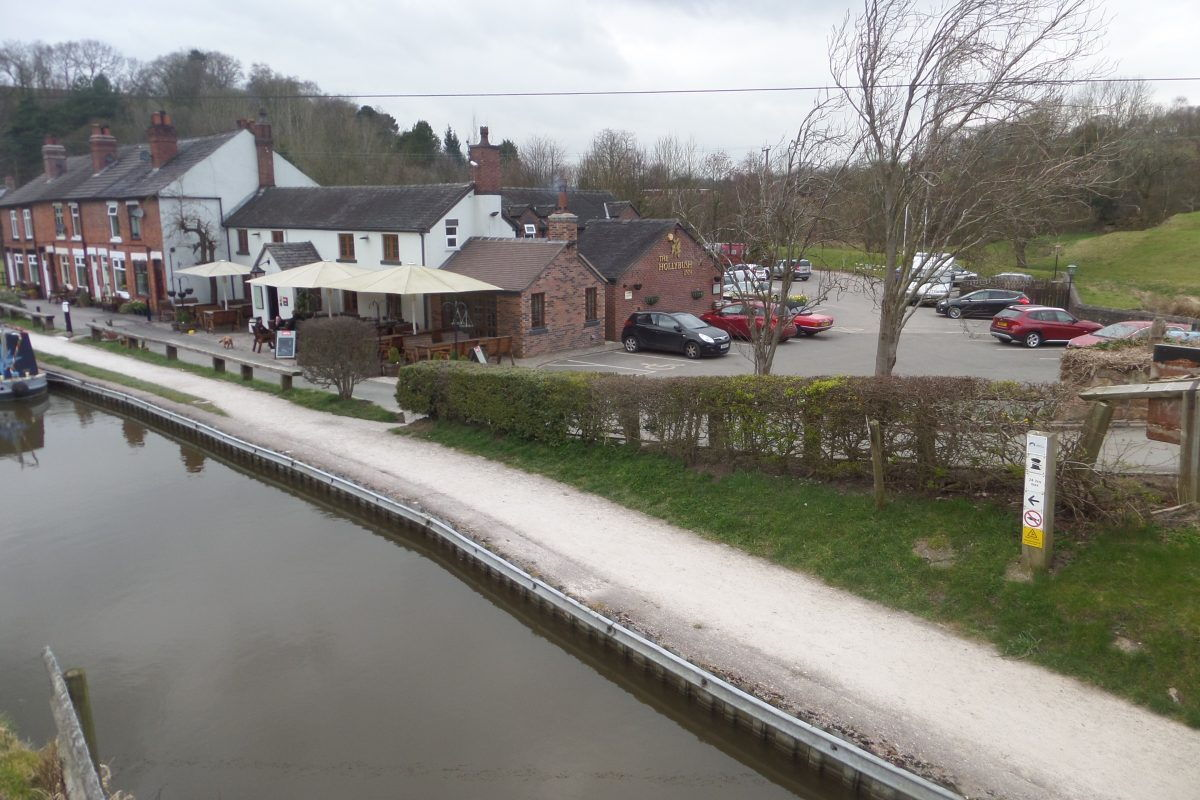 The Hollybush Inn at Denford near Cheddleton beside the Caldon Canal