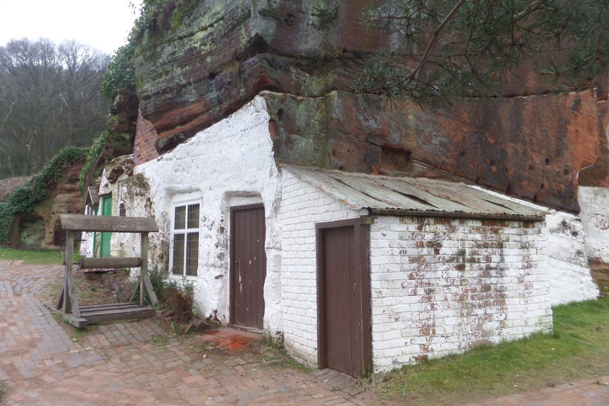 Holy Austin Rock cave houses at Kinver Edge