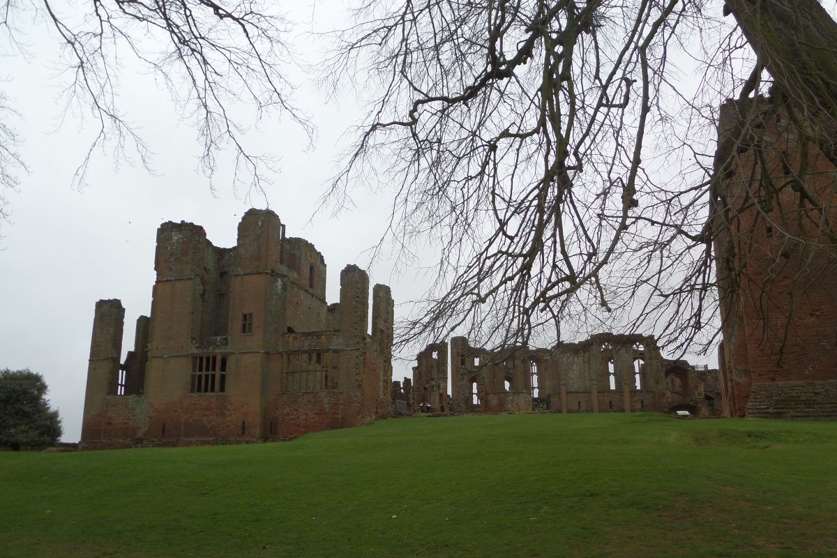 Kenilworth Castle - imposing even on a cold grey windy day