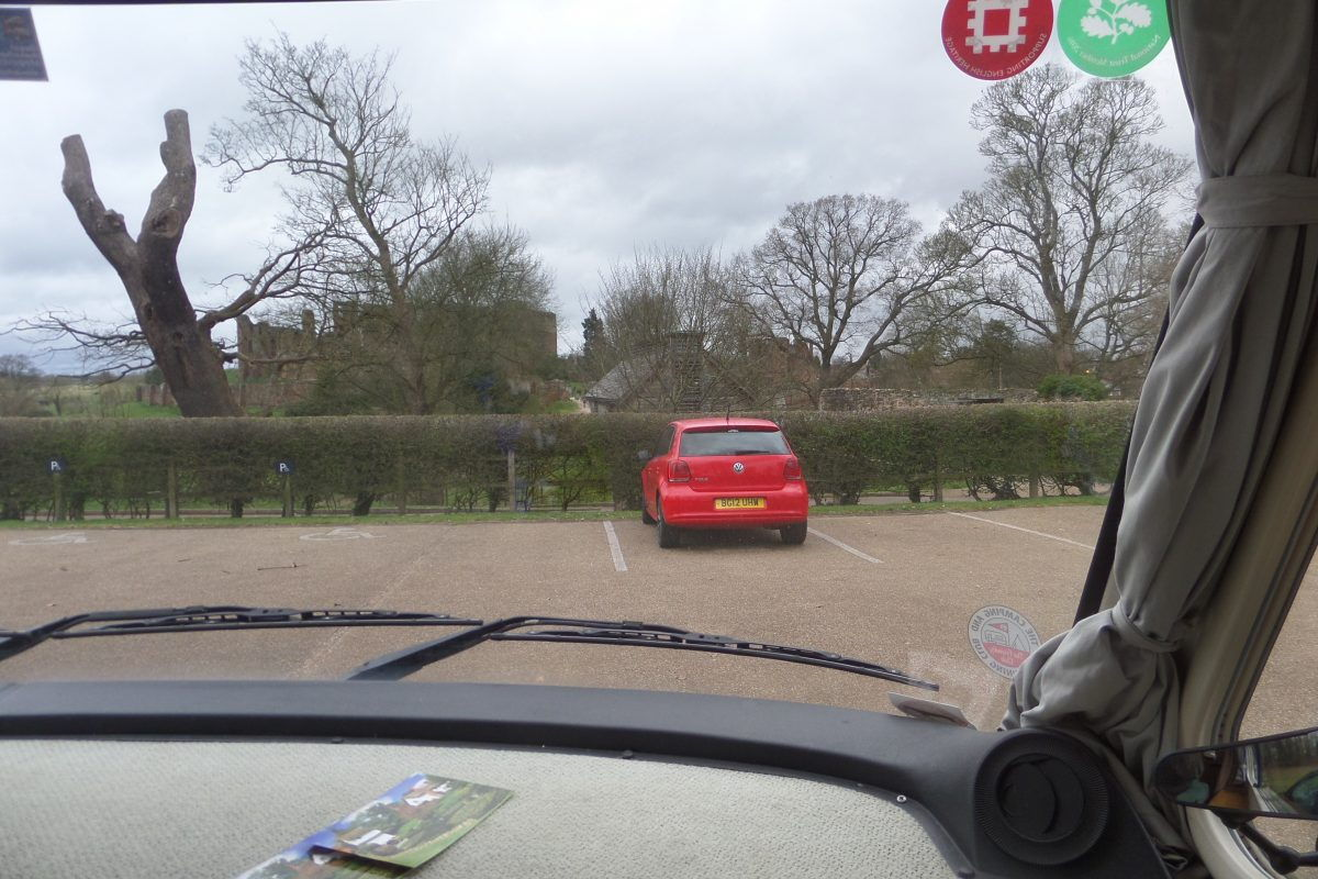 Castle view from the car park