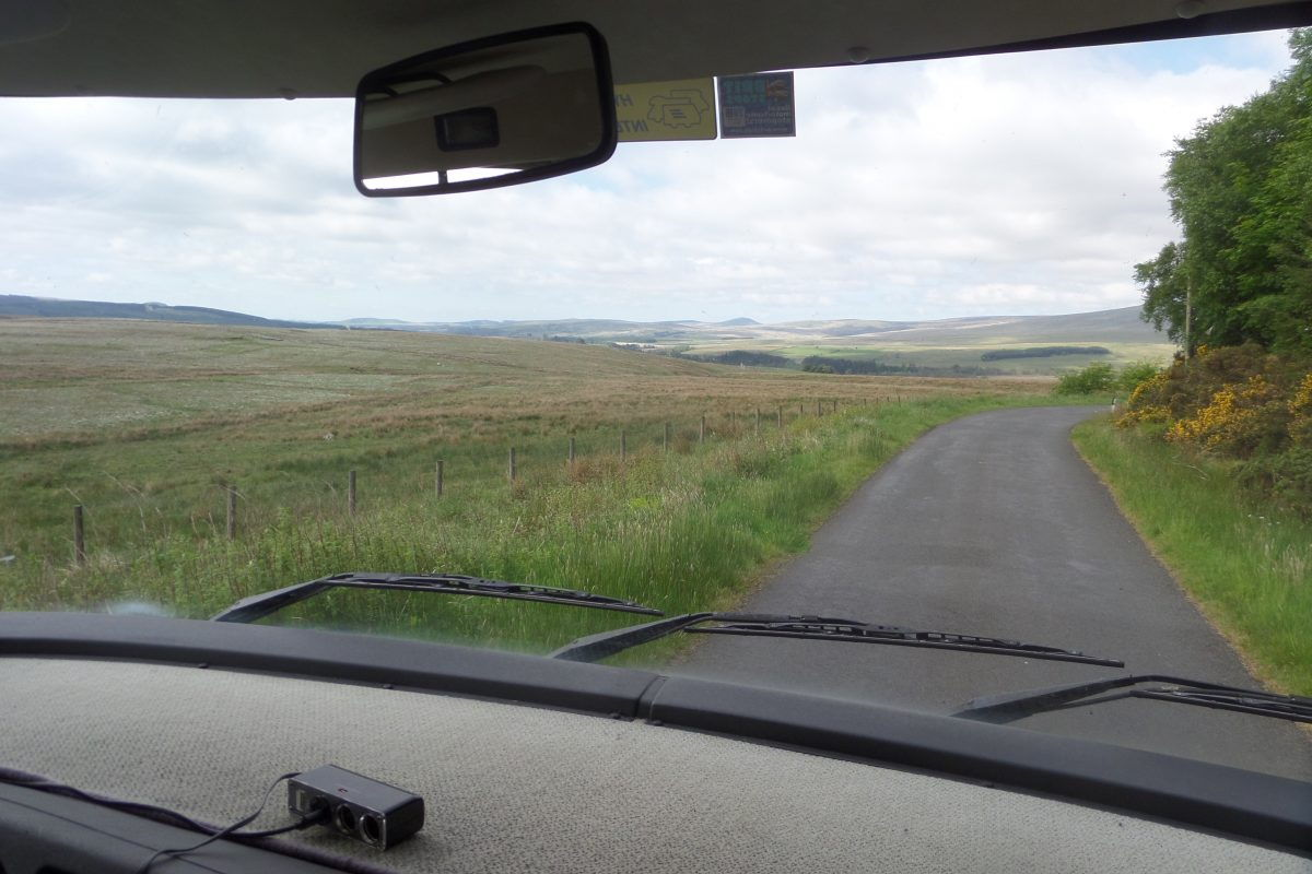 The road from Kielder in to Scotland was tiny! It really felt that we were sneaking in by the back door!