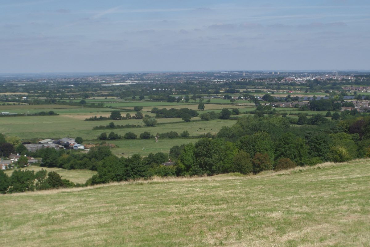 View over Swindon from the heights above Wroughton