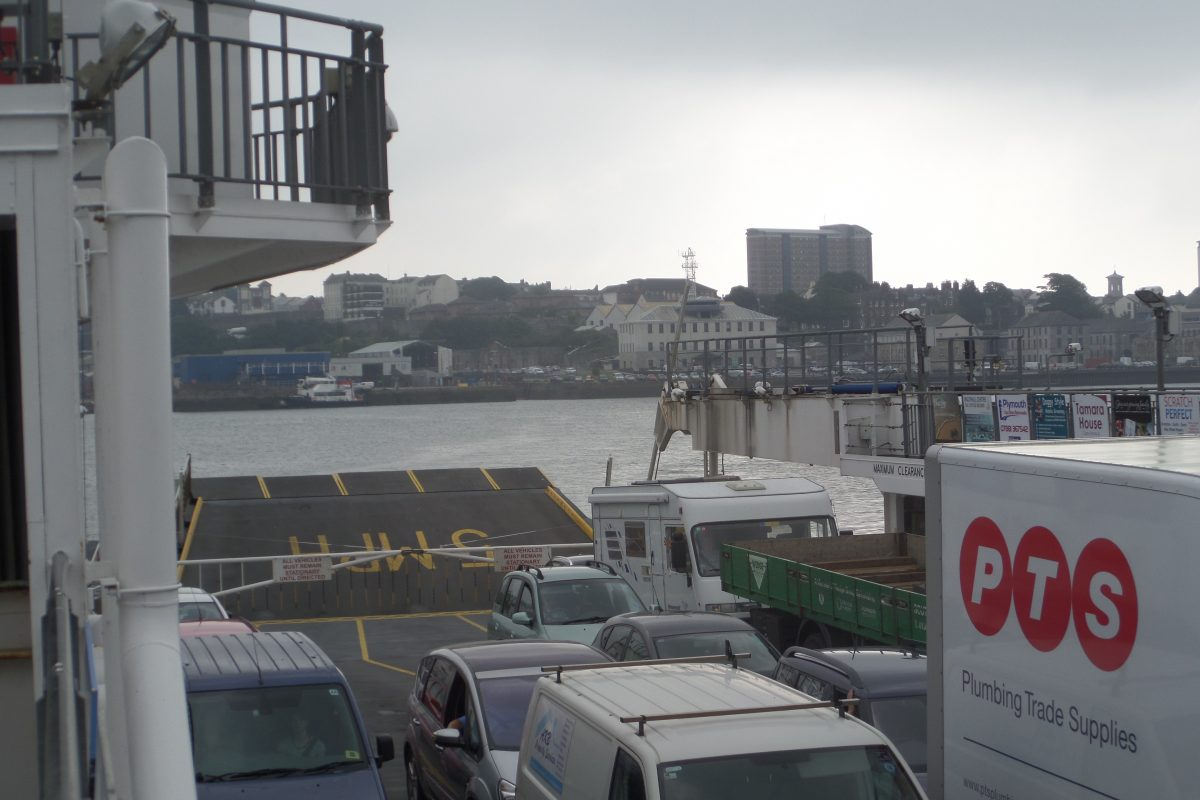 Bertie on the Torpoint Ferry