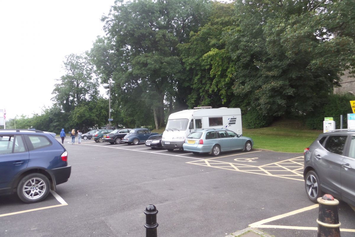 Bertie parked up for the night in Holsworthy Manor Car Park