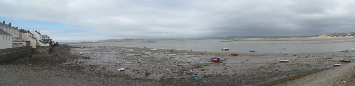 Panorama of the Taw and Torridge Estuary as see nfrom our parking spot in Appledore Car Park