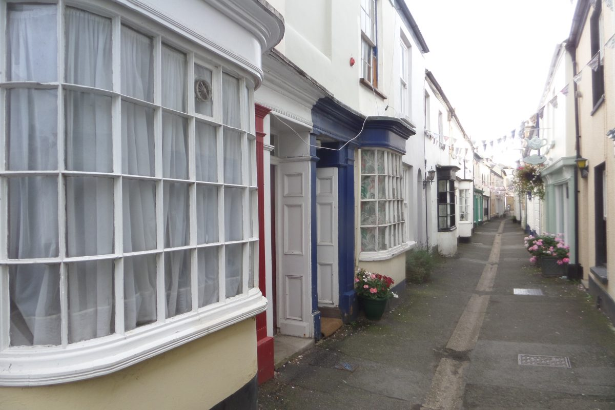 Market Street in Appledore. This was a busy little street (well really little more than an alley way) and charming with all its Vioctorian bow fronted shops.