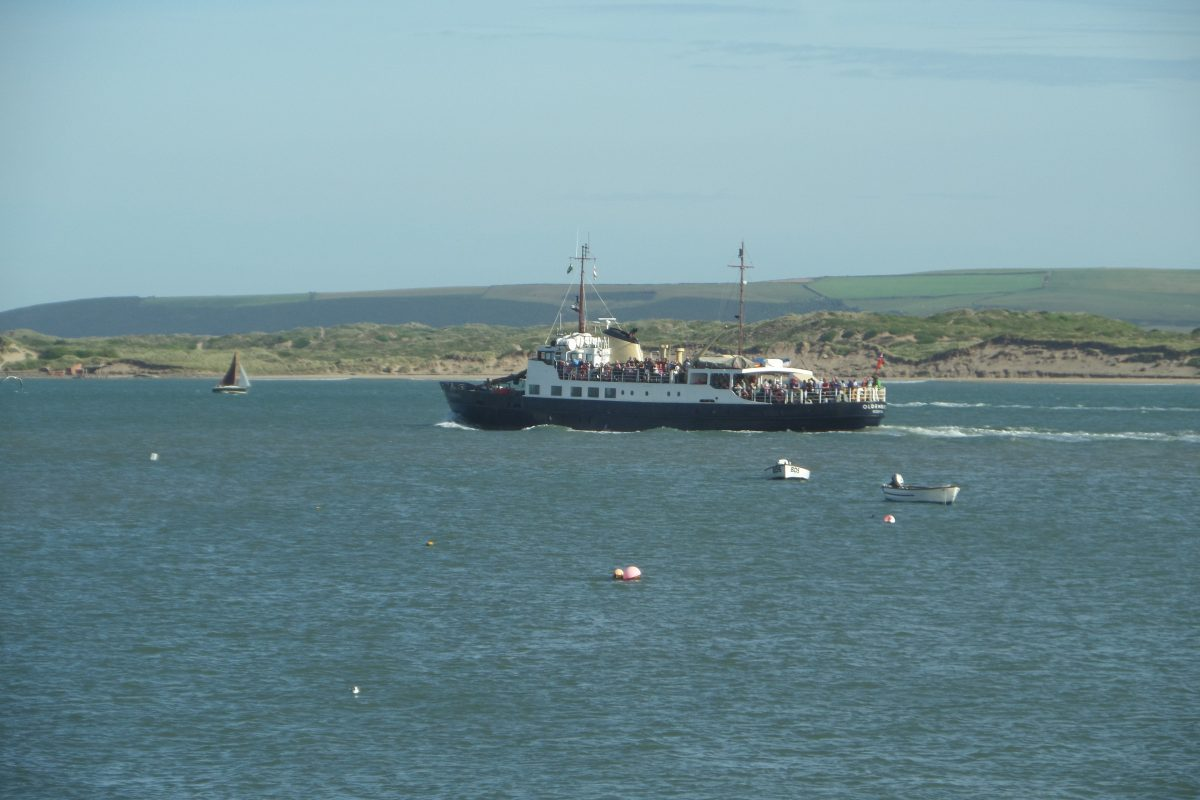 MS Oldenburg passes Appledore on her way to Lundy