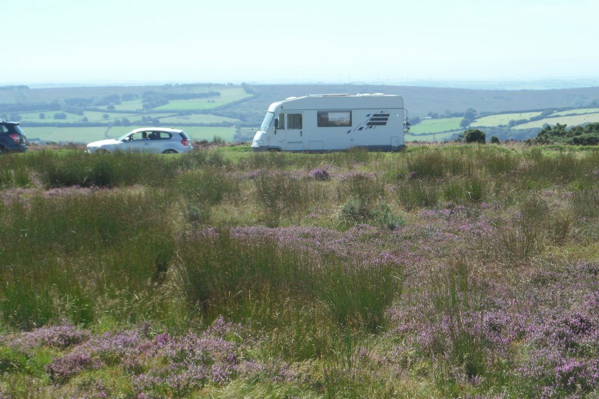 Bertie parked at Winsford Hill on the top of Exmoor. We stopped here for lunch on Tuesday 23rd August