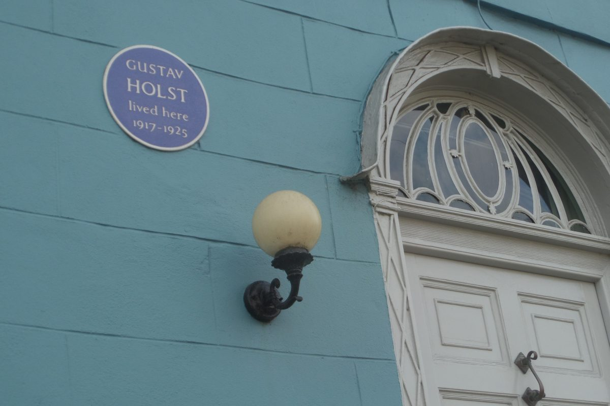 Blue Plaque to Gustav Holst in Thaxted