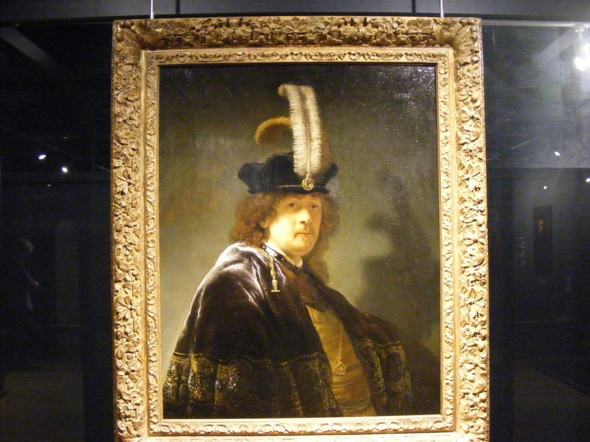 This Rembrant has been owned by the Nation Trust for many years but hos only recently been recognised as a genuine Rembrant painting and is now on display at Buckland Abbey.