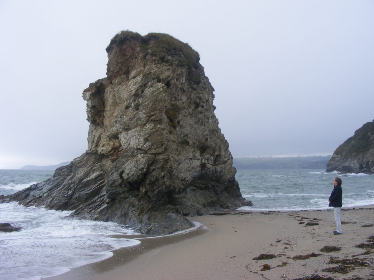 The stack on Carlyon Beach