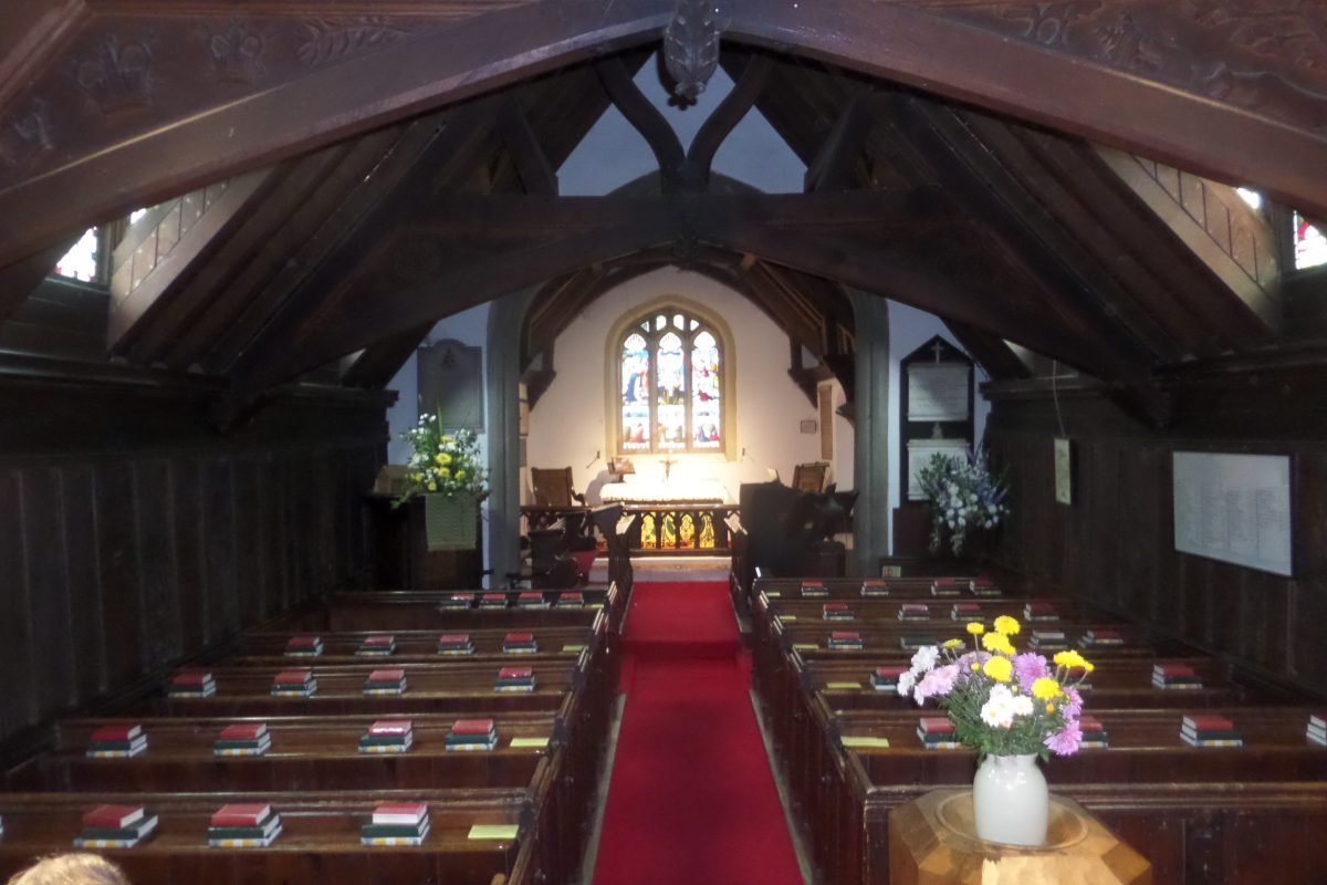 Greensted Church, near Ongar, is the oldest wooden church in the world
