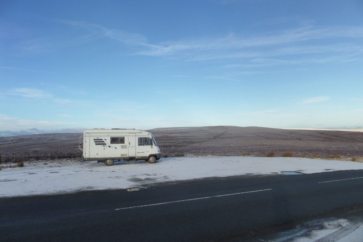 Breakfast Stop on the pass between Teesdale and Weardale