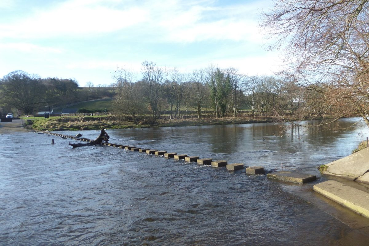 Stepping Stones across the River Wear at Stanhope