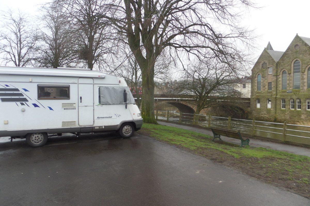 Free stopover in Hawick Haugh Car Park
