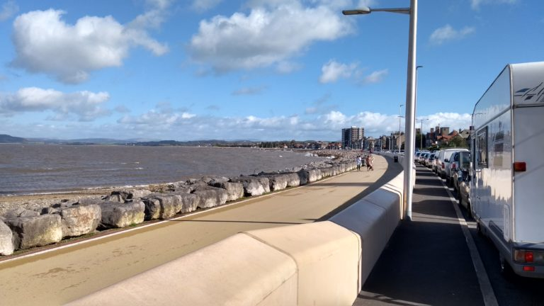 Our lunch stop in Morecambe on our way to the ferry at Heysham