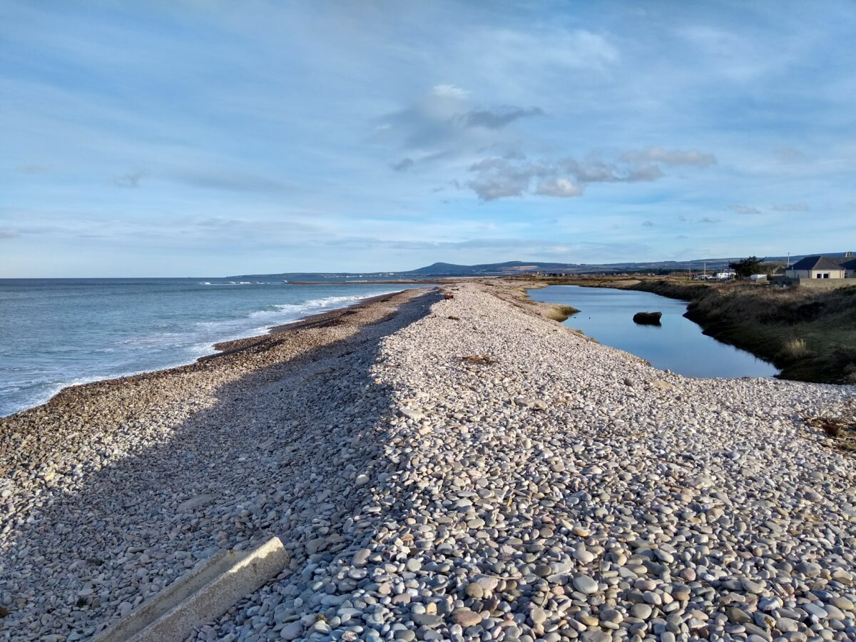 Shingle beach at Kingston